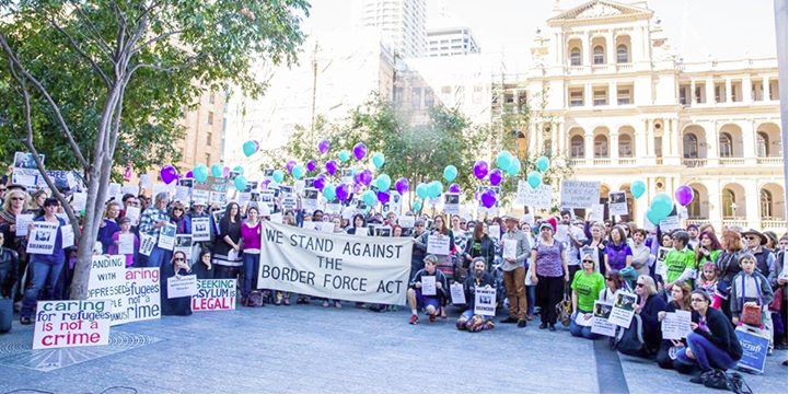Caption: Doctors Against the Border Force Act protesting in Brisbane, 8 August 2015