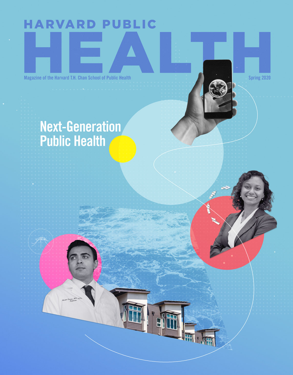 The cover page of the Harvard Public Health Magazine, Spring 2020 edition. This issue of the magazine includes a feature about the Apple Women's Health Study.