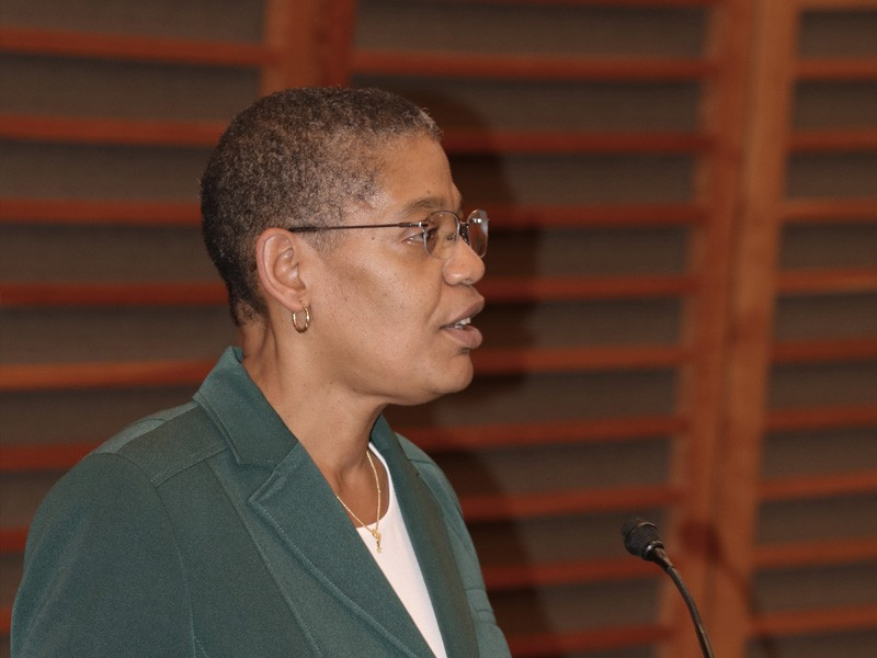 Dean Michelle Williams delivers introductory remarks