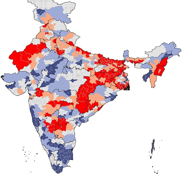Map of India showing Parliamentary Constituencies