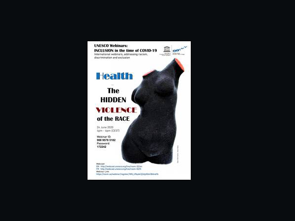 """Flyer for event titled """"The Hidden Violence of the Race"""""""