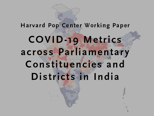 Map of India geopolitical units with title of working paper