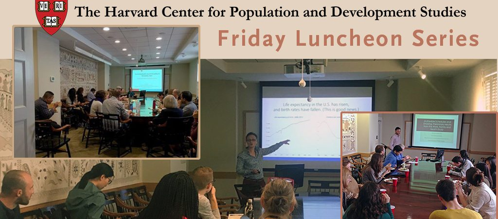 Collage of Friday Lunch Seminars