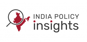 Logo of map of India and magnifying glass for India Policy Insights