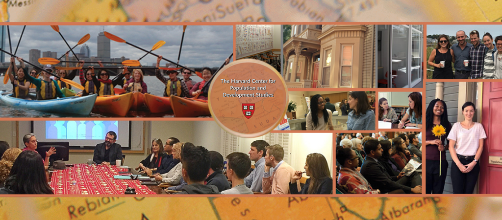 collage of postdoctoral fellows at the Harvard Pop Center over the years