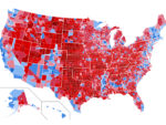 Map of United States counties during 2020 election
