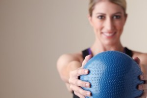healthy weight medicine ball exercise