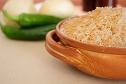Basmati rice with peppers