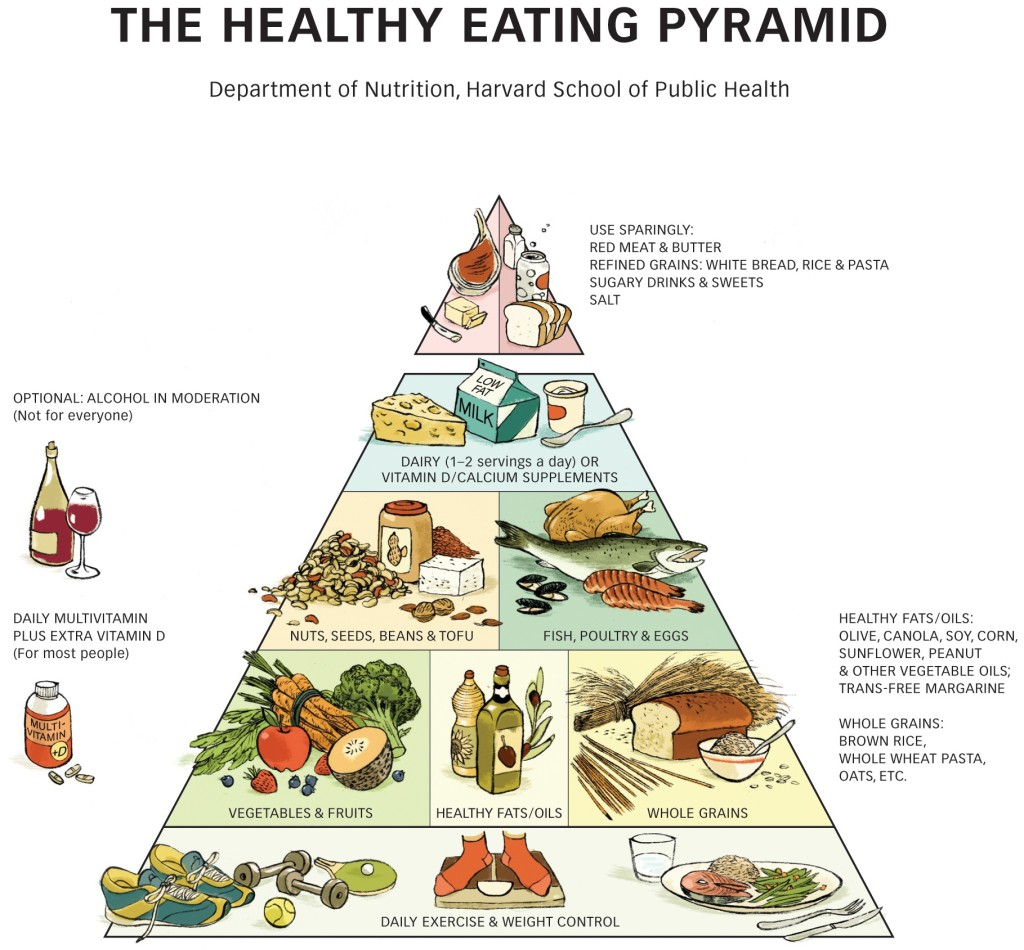 Daily diet for good health -  Healthy Eating Plate Complement Each Other Pyramid_forriver2