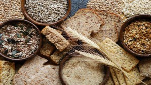 a variety of wheats and grains in various bowls