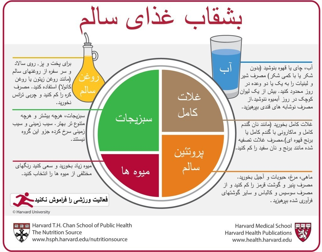 Farsi Healthy Eating Plate
