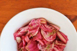 Quick pickled beets and fennel