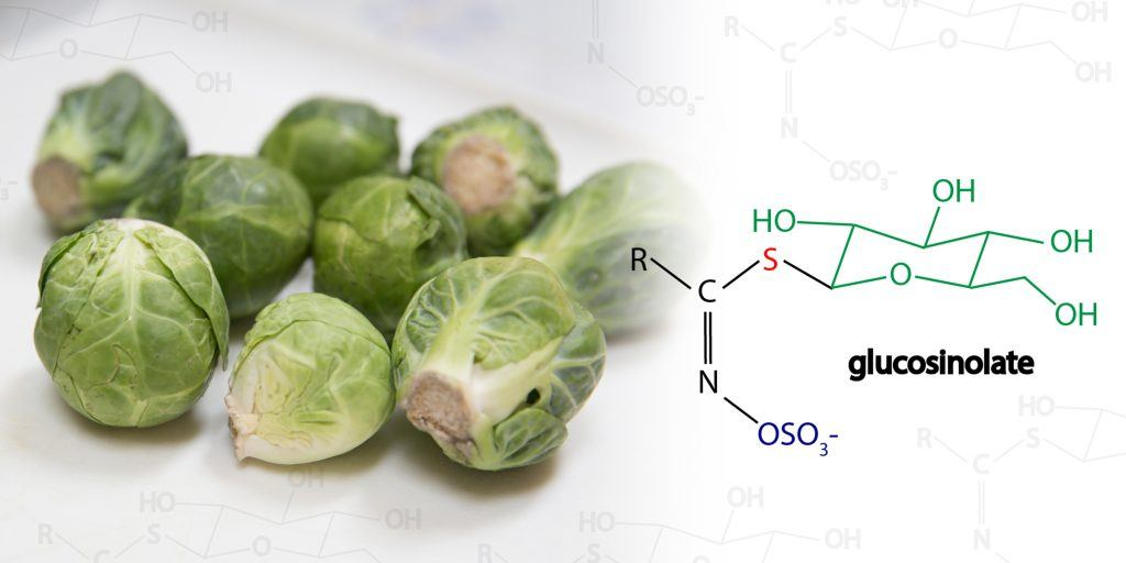 Glucosinolate compound in Brussels sprouts