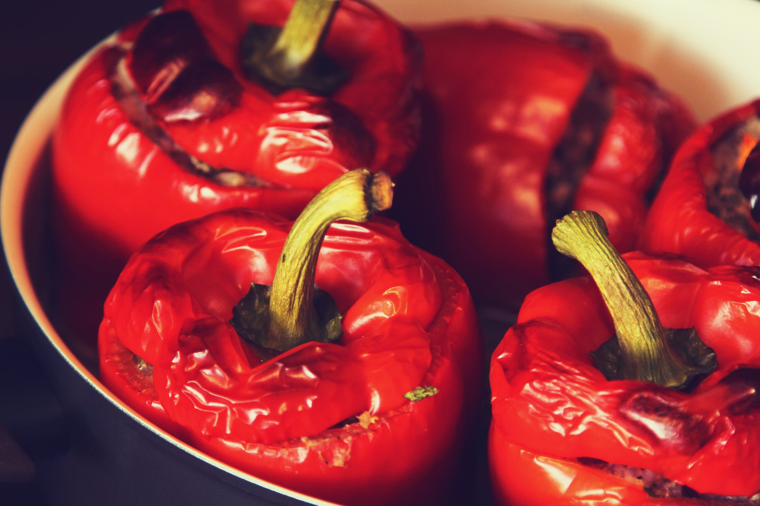 roasted and stuffed peppers