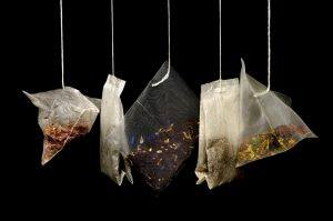 sachets of a variety of tea blends