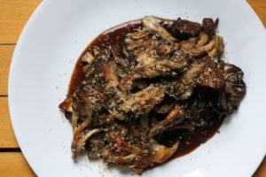 Pan Roasted Wild Mushrooms with Coffee and Hazelnuts