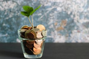 Growing a plant from a jar of money