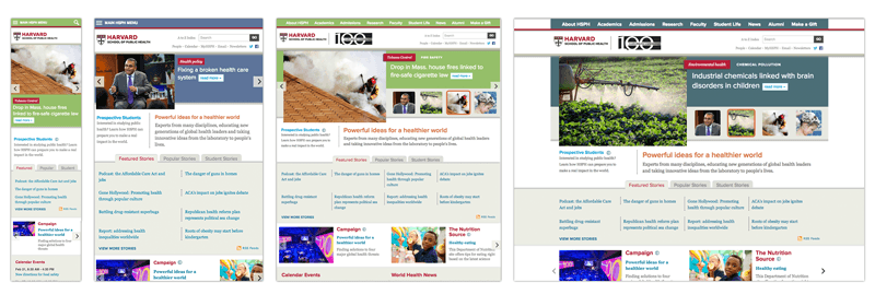 The HSPH website now adjusts based upon screen size optimizing the mobile experience for users.
