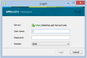 Enter your Harvard Chan username and password and click login