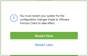 Install VMWare Horizon Client for Windows | Department of