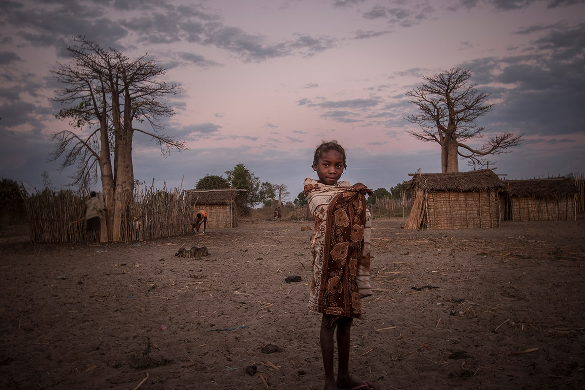 A young Masikoro girl living in the semi-arid environment of Maharihy, Madagascar.