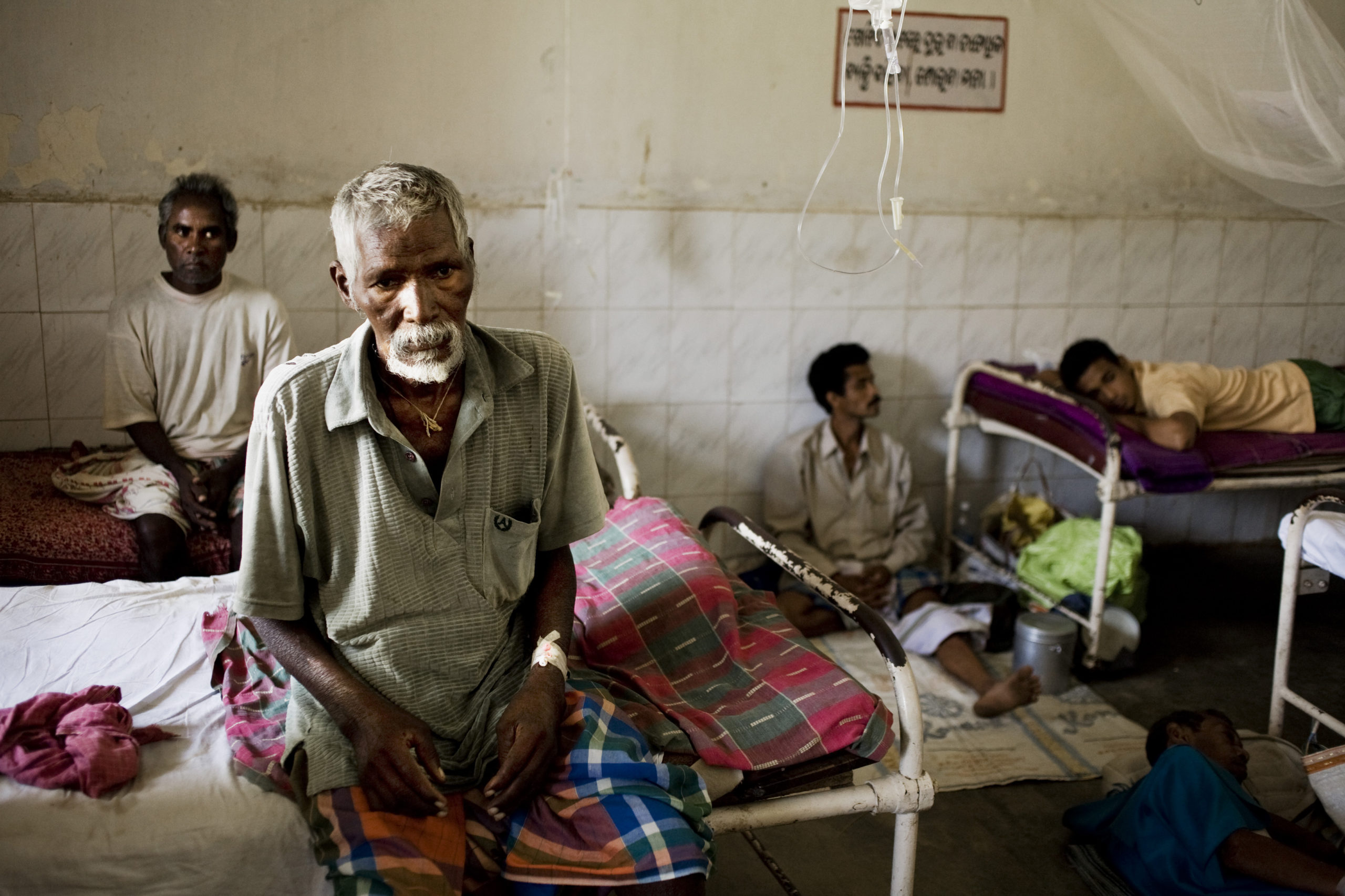 Malaria patients in a clinic in the eastern India state of Odisha.