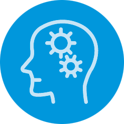 icon of brain with gears