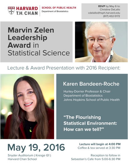 Marvin Zelen Leadership Award