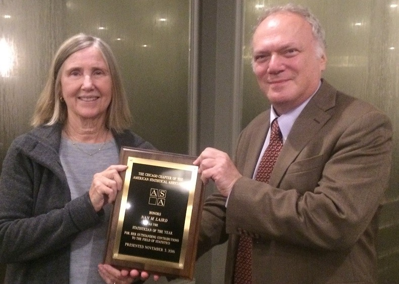 Nan Laird Named Statistician of the Year by Chicago ASA