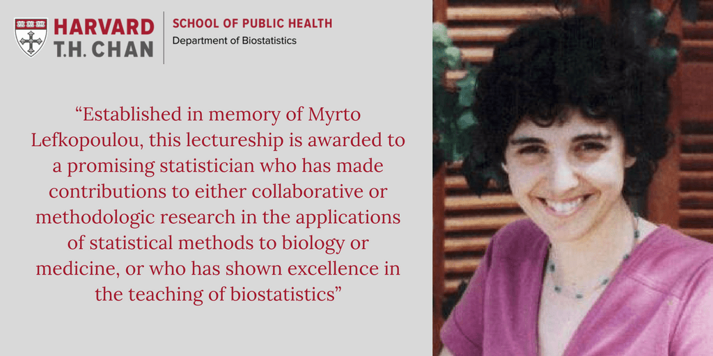 Myrto Lefkopoulou Distinguished Lectureship