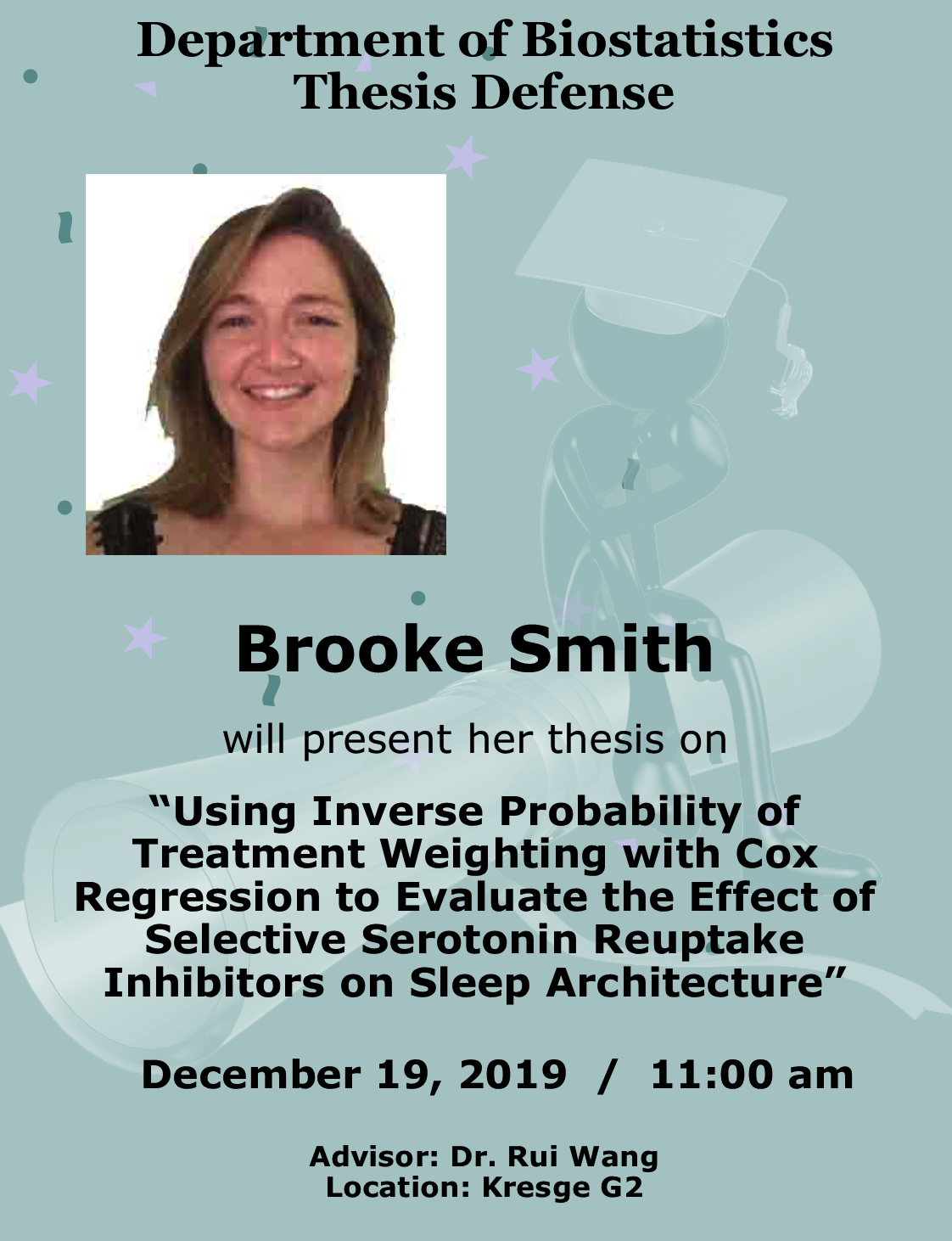 Brooke Smith Thesis Defense announcement