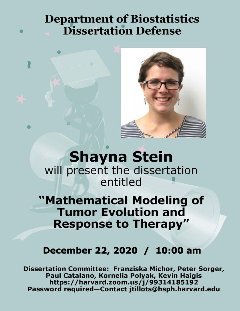 Shayna Stein Thesis Flyer