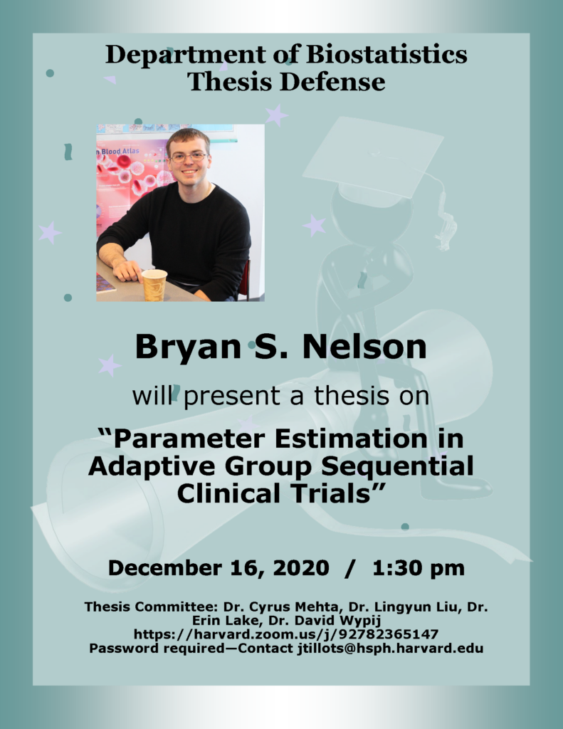 Bryan Nelson Thesis Defense flier