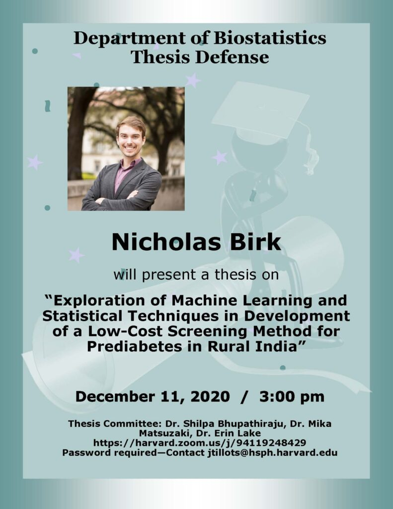 Nick Birk Thesis Flyer