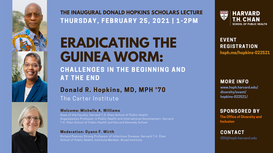 Inaugural Donald Hopkins Lecture Flyer