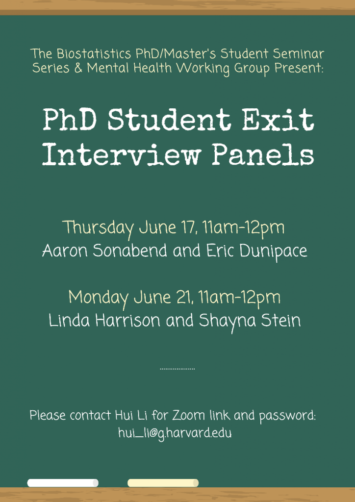 PhD Student Exit Interview Panels