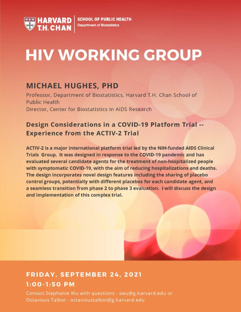 HIV Working Group Flyer for Sept 24