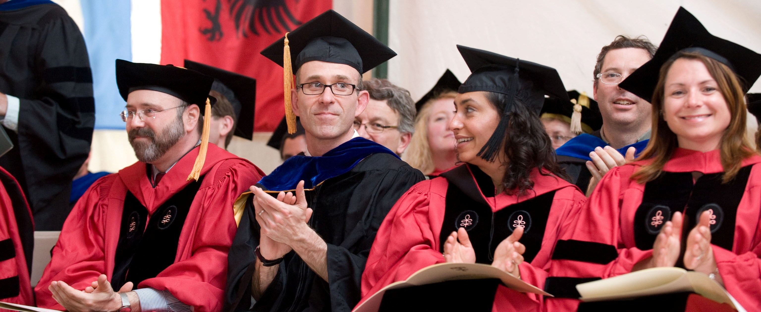Faculty at Commencement