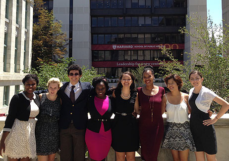 Summer Program in Epidemiology Student outside HSPH