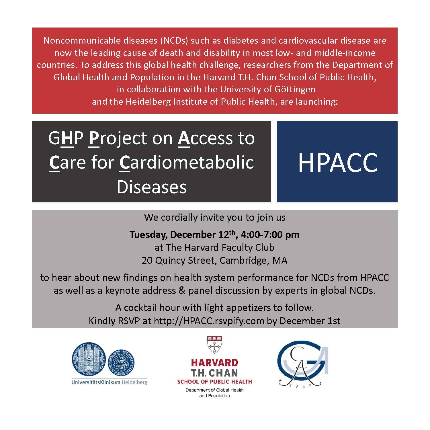 The GHP Project on Access to Care for Cardiometabolic Diseases