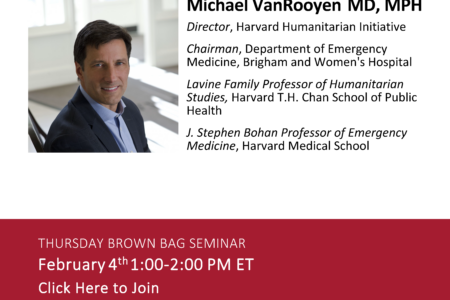 Flyer for M.VanRooyen Brown Bag