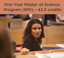 One-Year Master of Science Program (SM1) – 42.5 credits