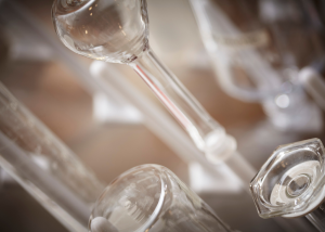 decirative - detail of glass tubes used in the lab