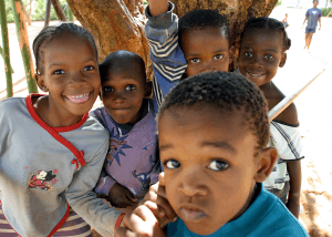 photo of kids from Botswana where the Shapiro group established some its research programs
