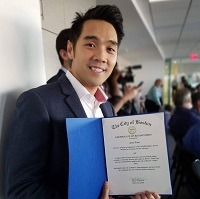 Alvin Tran recognized for advocacy work in Boston