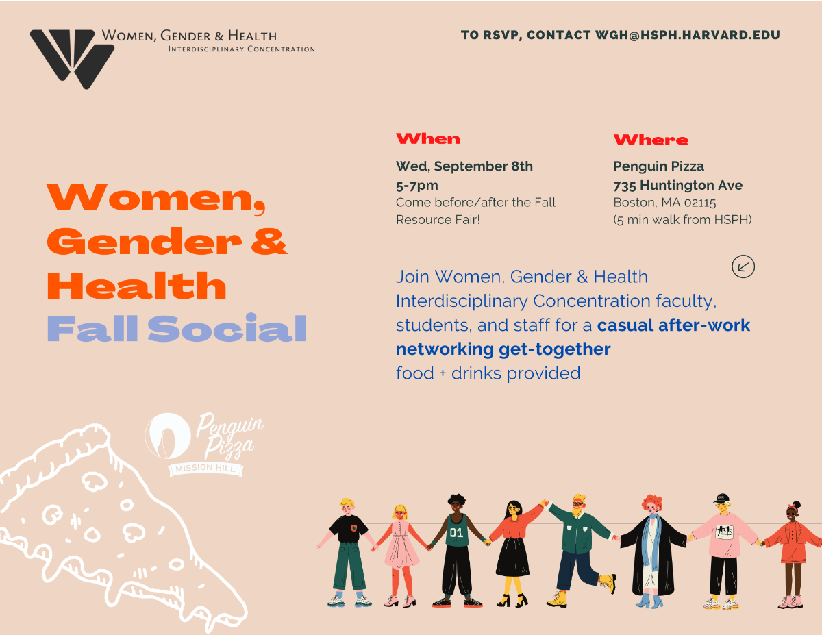 WGH Fall Social on Wednesday, September 8 from 5 to 7 P.M. at the Penquin Pizza