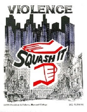 Logo for the Center for Health Communication's Squash It! Campaign to Prevent Youth Violence