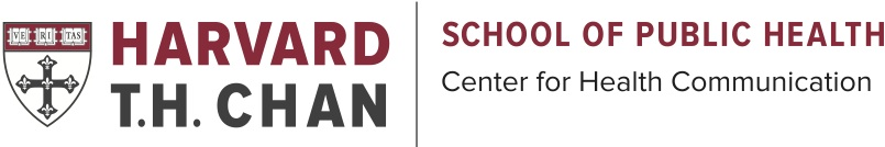 Harvard T.H.Chan School of Public Health's Center for Health Communication (logo with shield)